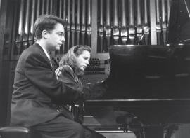 Iñaki Saldaña y Chiky Martín. Concierto La españolada. Música española por compositores extranjeros , 1991