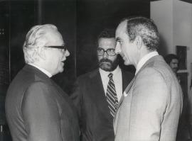 Ernst Schwitters, José Capa Eiríz y José Luis Yuste Grijalba. Exposición Kurt Schwitters, 1982