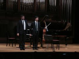 Mario Mora y Lorenzo Meseguer. Recital de violonchelo y piano , 2016