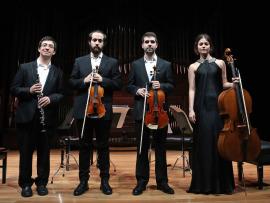 Jesús Montalvo Horcajada, David Navarro Ruiz, Raquel Rivera Novillo y Iván Sánchez Águila. Recital de música de cámara , 2016