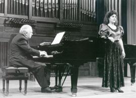 Miguel Zanetti y Mª José Martos. Concierto Música española de salón , 1992