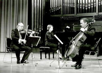 Trío Orfeo, Zdravka Radoilska, Domingo Tomás y Dimitar Furnadjiev. Concierto Tríos con piano