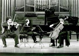 Trío Bretón, Santiago de la Riva, Miguel Jiménez y Alfonso Peciña. Concierto Tríos con piano , 1993