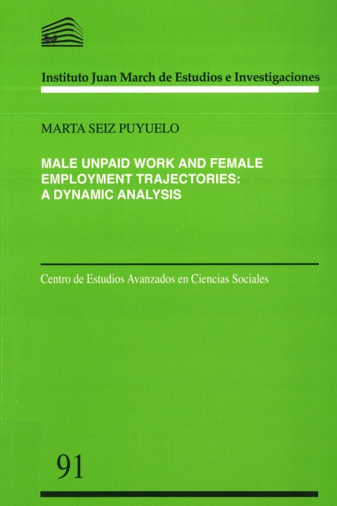 "Portada de ""Male unpaid work and female employment trajectories: a dynamic analysis"""