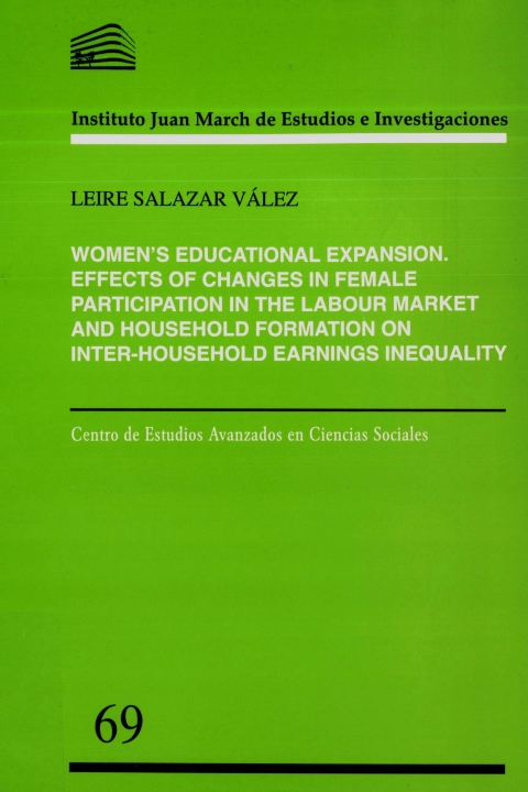 """Portada de """"Women's educational expansion: effects of changes in female participation in the labour market and household formation on inter-household earnings inequality"""""""