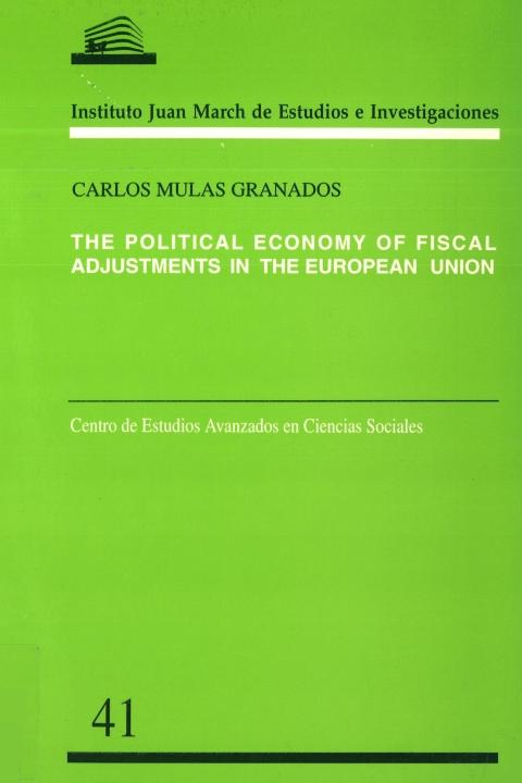 "Portada de ""The Political economy of fiscal adjustments in the European Union"""