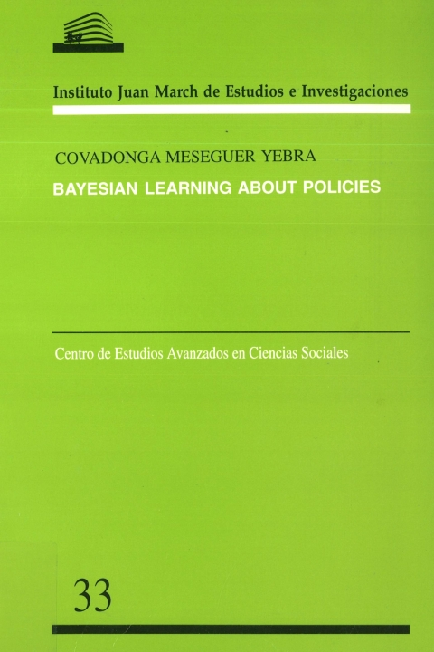 "Portada de ""Bayesian learning about policies"""