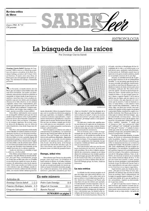 """Portada de """"Revista Saber Leer 1992"""""""
