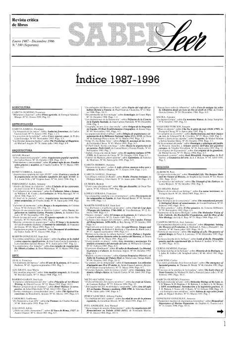 """Portada de """"Revista Saber Leer 1996"""""""
