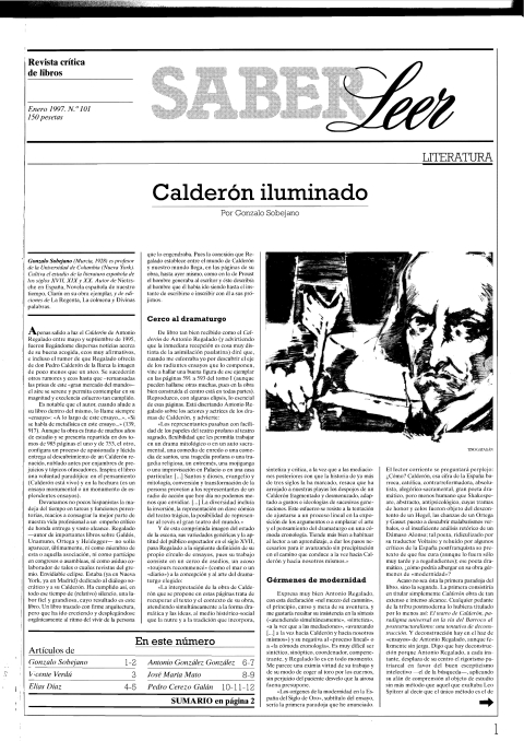 """Portada de """"Revista Saber Leer 1997"""""""