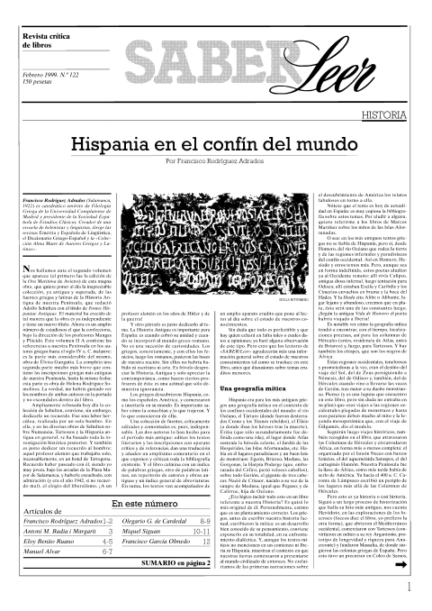 """Portada de """"Revista Saber Leer 1999"""""""