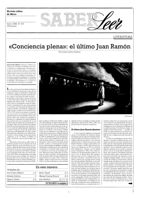 """Portada de """"Revista Saber Leer 2000"""""""