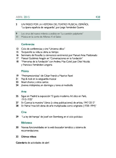 """Portada de """"Boletín abril 2015"""""""