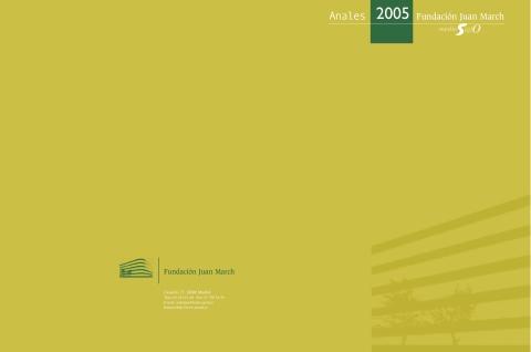 """Portada de """"Anales 2005"""""""