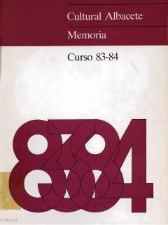 """Portada de """"Cultural Albacete. Memoria. Curso 83-84"""""""
