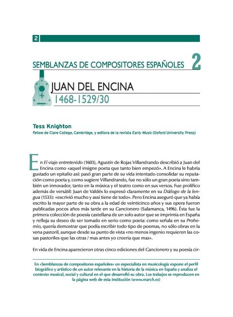 """Portada de """"Juan del Encina (1468-1529/30)"""""""