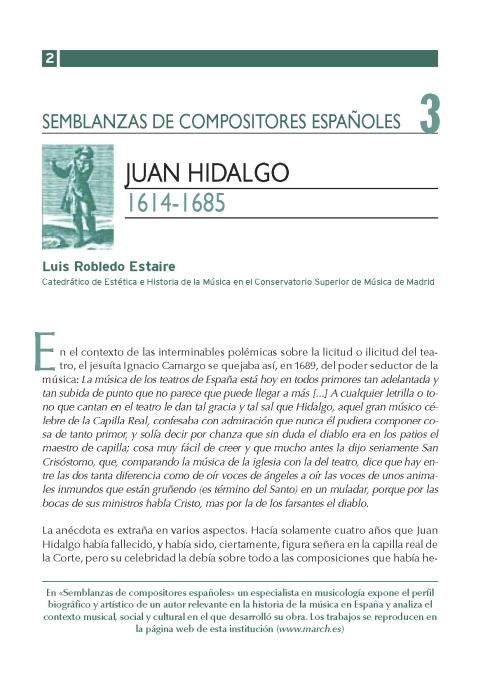 """Portada de """"Juan Hidalgo (1614-1685)"""""""