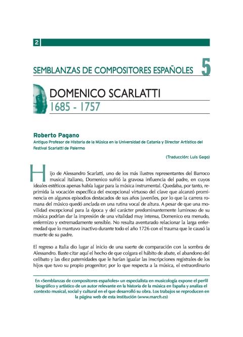 "Portada de ""Domenico Scarlatti (1685-1757)"""