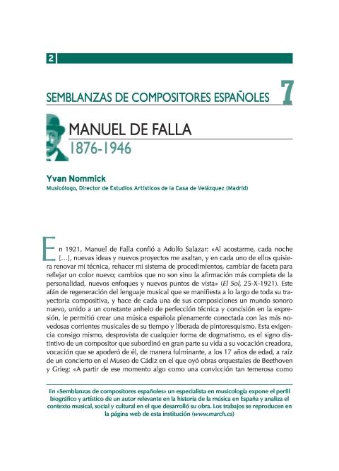 """Portada de """"Manuel de Falla (1876-1946)"""""""