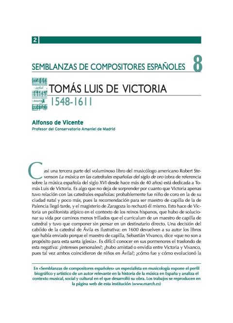 """Portada de """"Tomás Luis de Victoria (1548-1611)"""""""