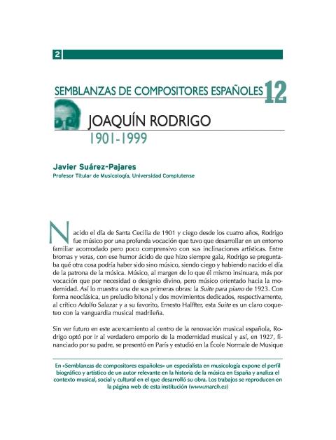 """Portada de """"Joaquín Rodrigo (1901-1999)"""""""