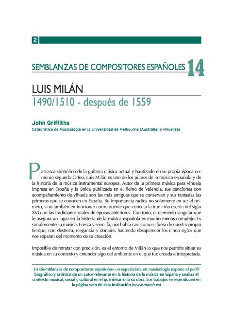 """Portada de """"Luis Milán (1490/1510 - después de 1559)"""""""