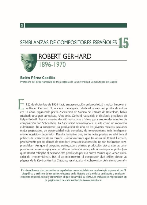 """Portada de """"Robert Gerhard (1896-1970)"""""""