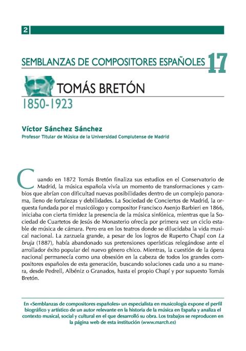"""Portada de """"Tomás Bretón (1850-1923)"""""""