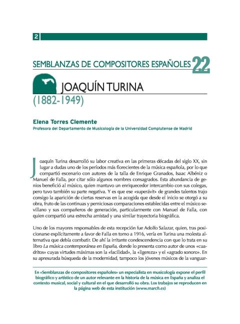 """Portada de """"Joaquín Turina (1882-1949)"""""""