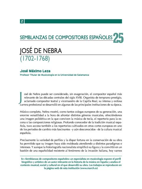 """Portada de """"José de Nebra (1702-1768)"""""""