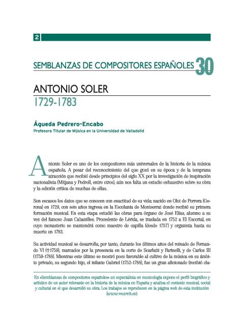 """Portada de """"Antonio Soler (1729-1783)"""""""