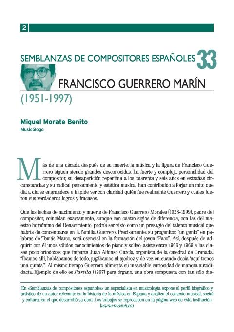 """Portada de """"Francisco Guerrero Marín (1951-1997)"""""""