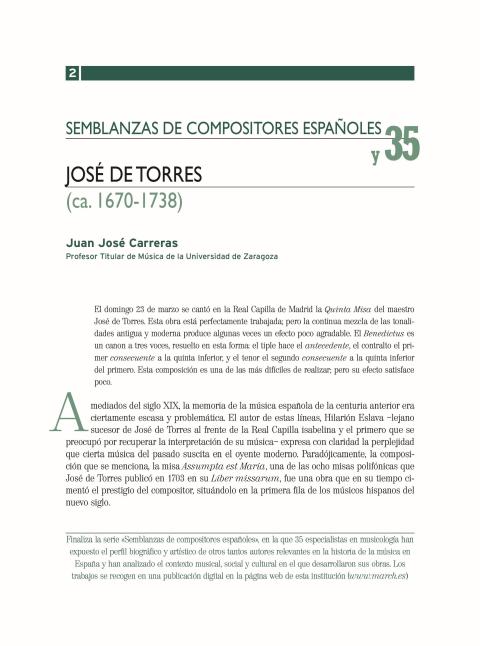 """Portada de """"José de Torres (ca.1670-ca.1738)"""""""