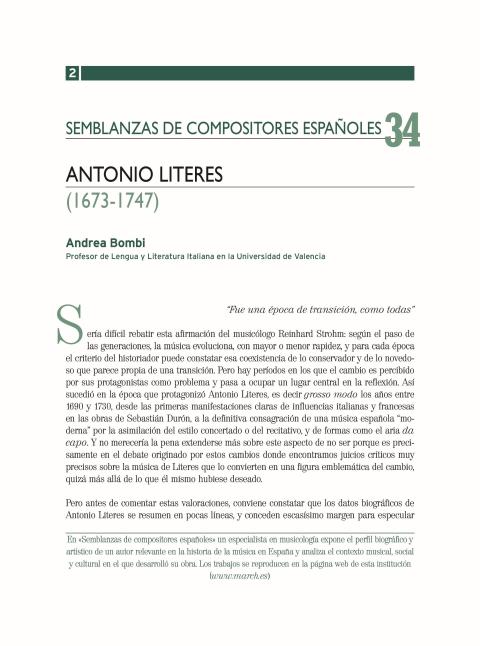 "Portada de ""Antonio Literes (1673-1747)"""