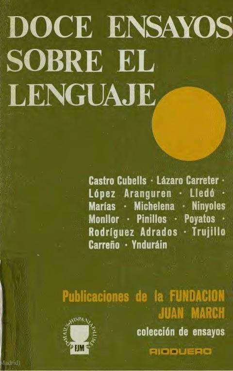 """Portada de """"Doce ensayos sobre el lenguaje"""""""