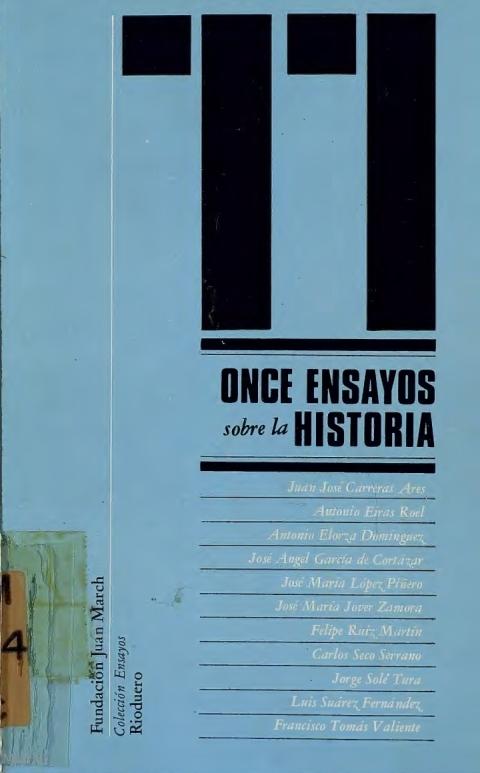 """Portada de """"Once ensayos sobre la historia"""""""