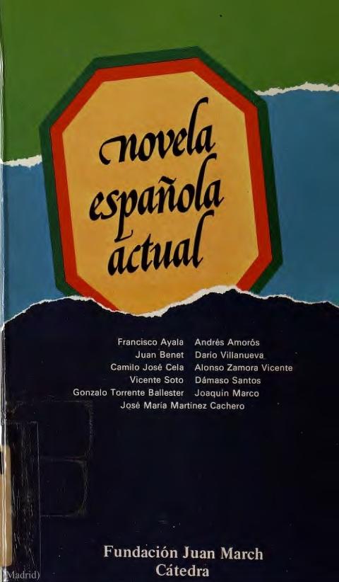 """Portada de """"Novela española actual"""""""