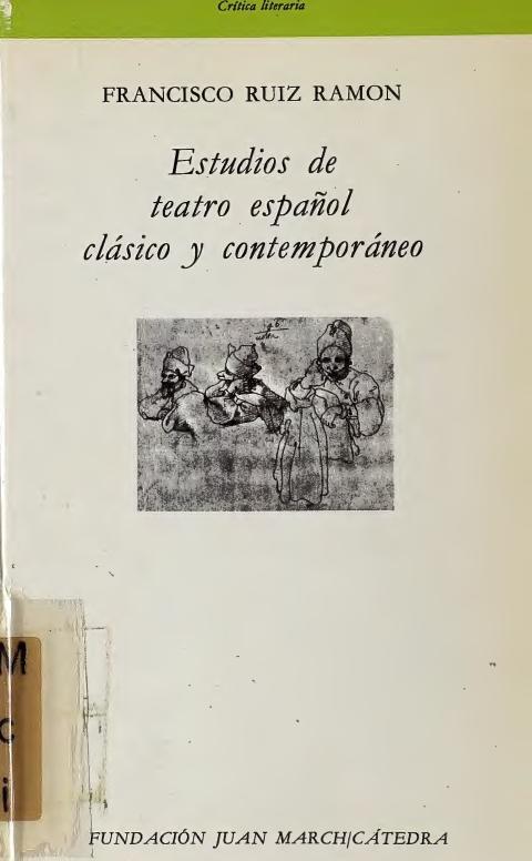 """Portada de """"Estudios sobre teatro español clásico y contemporáneo"""""""
