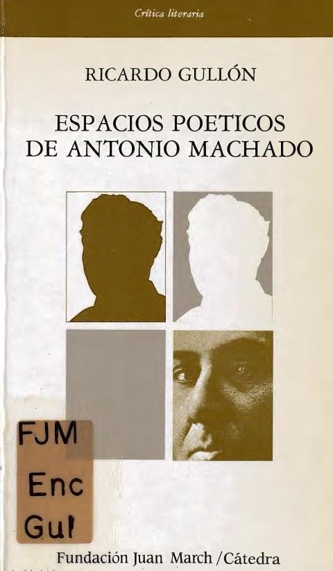 """Portada de """"Espacios poéticos de Antonio Machado"""""""