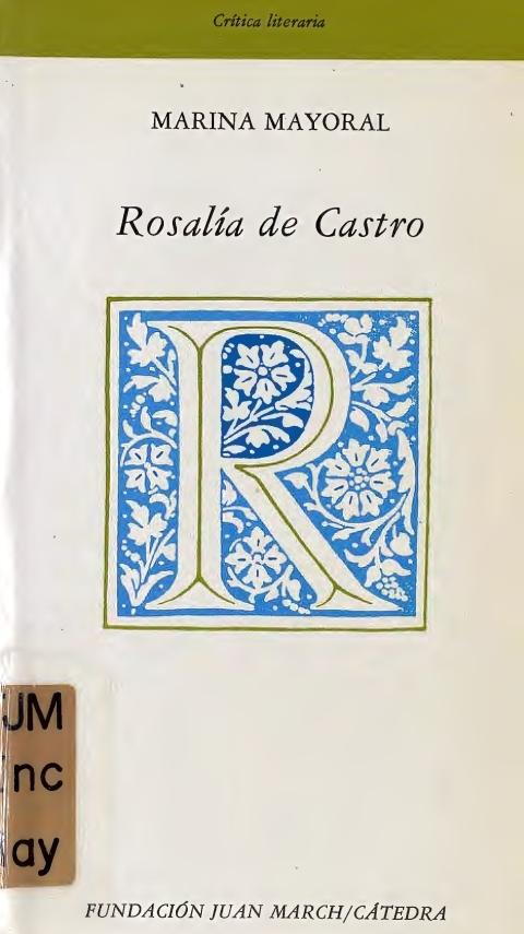 """Portada de """"Rosalía de Castro"""""""