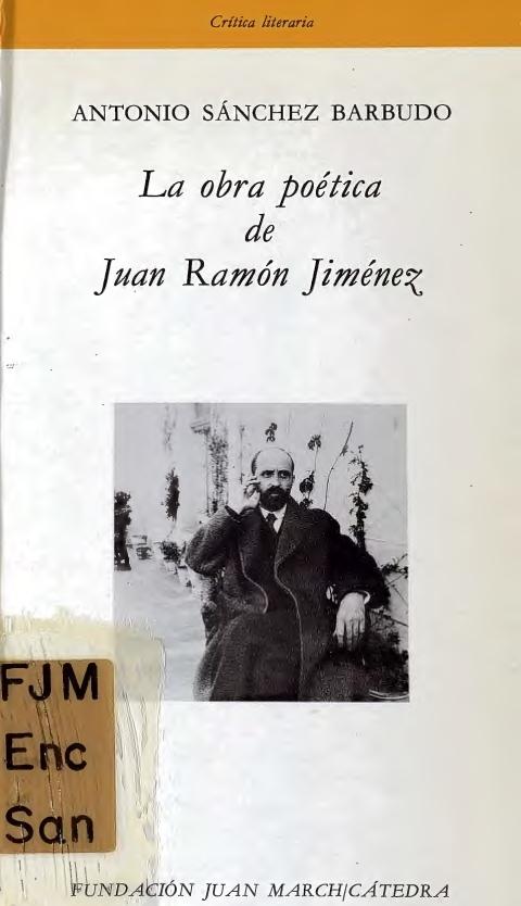 """Portada de """"La obra poética de Juan Ramón Jiménez"""""""