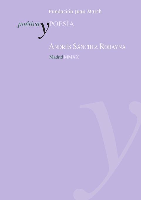 """Portada de """"Andrés Sánchez Robayna"""""""