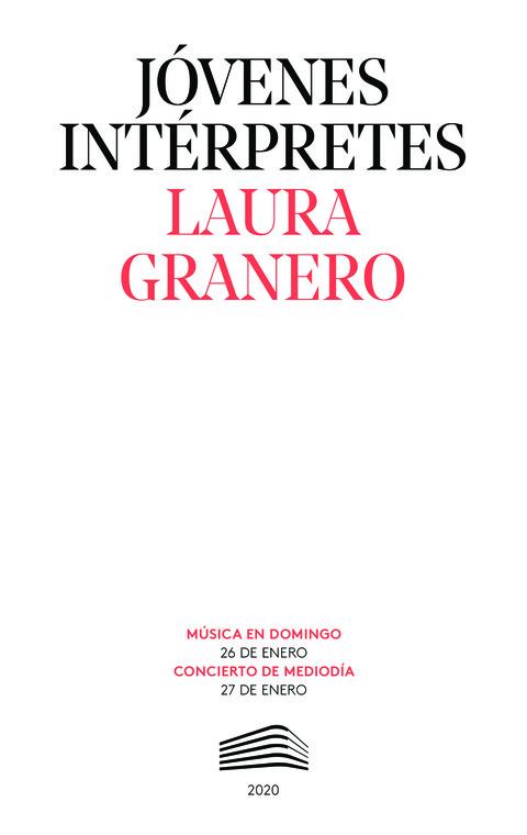 """Portada de """"Laura Granero. Jóvenes intérpretes. 27 de enero de 2020"""""""