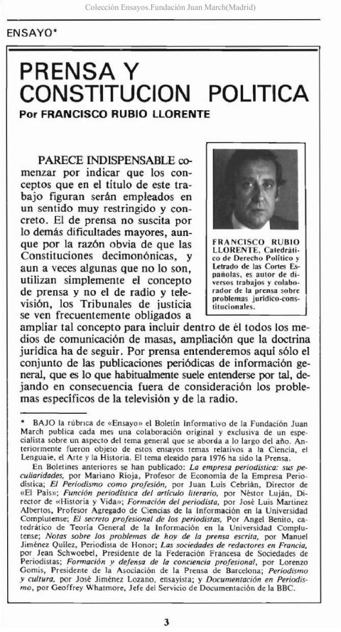 """Portada de """"Prensa y constitución política"""""""