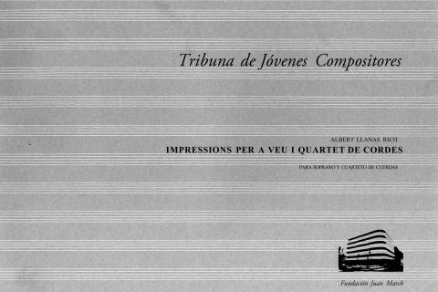 """Portada de """"Impressions per a veu i quartet de cordes : para soprano y cuarteto de cuerdas"""""""