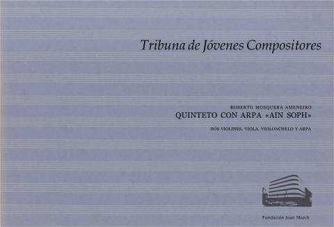 """Portada de """"Quinteto con arpa """"Ain Soph"""" : dos violines, viola, violonchelo y arpa"""""""