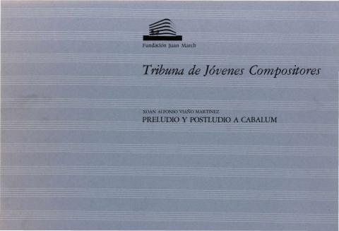 "Portada de ""Preludio y postludio a Cabalum"""
