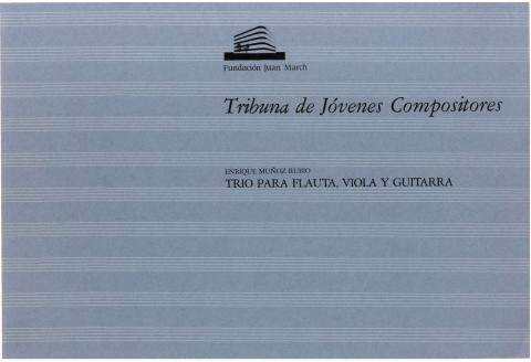 """Portada de """"Trío para flauta, viola y guitarra"""""""