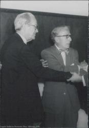 Fotografía de Antonio Palacios con Gonzalo Rojo.