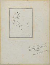 Caricatura de Guillermo Fernández Shaw y Federico Romero, de Emilio Ferrer.